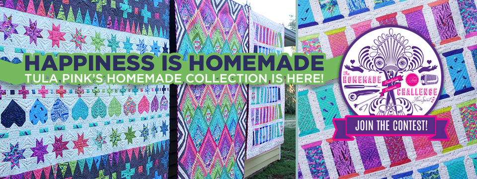 Cotton Fabric FQ quilting Homemade by Tula Pink Tools of the Trade Morning green