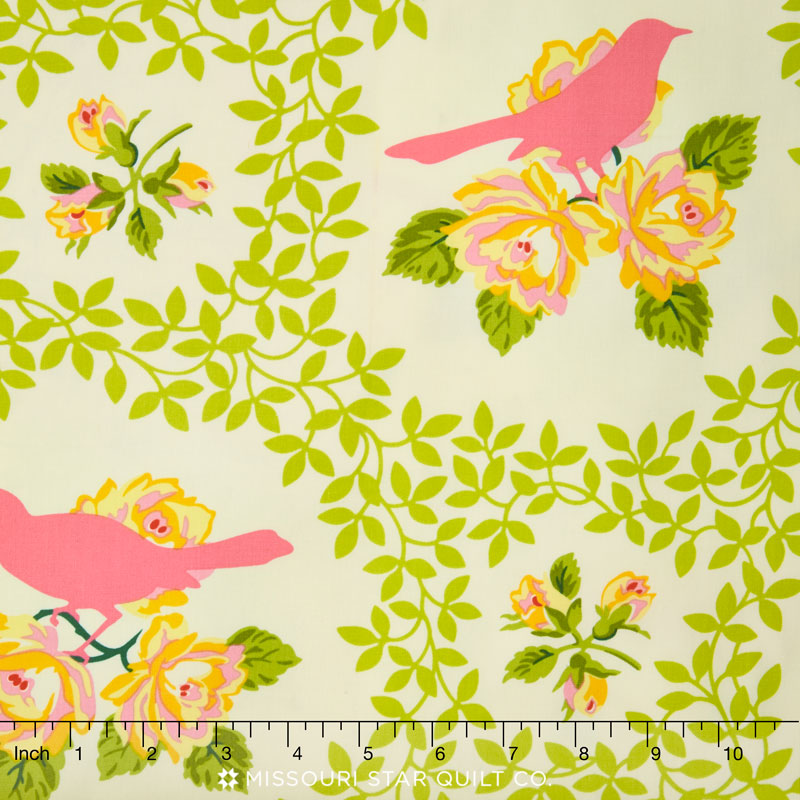 Up Parasol Mockingbird Pink Yardage Heather Bailey Freespirit