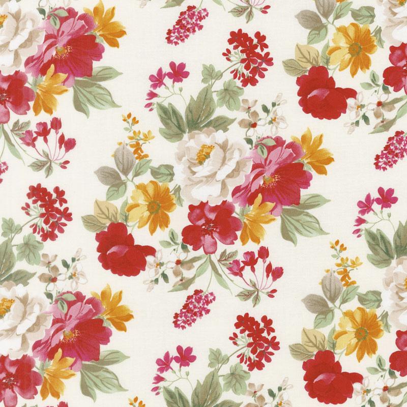 Farmhouse Floral - Main Cream Yardage