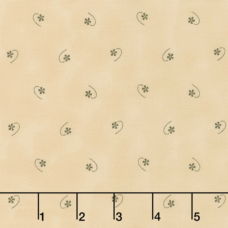 Flower Garden Gatherings Backgrounds - Solitary Flower Pie Crust Yardage