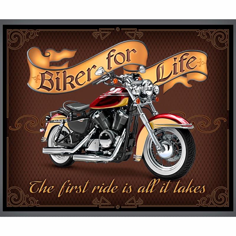 Biker for Life - Biker For Life Multi Panel - Jeff Wack - Quilting ...