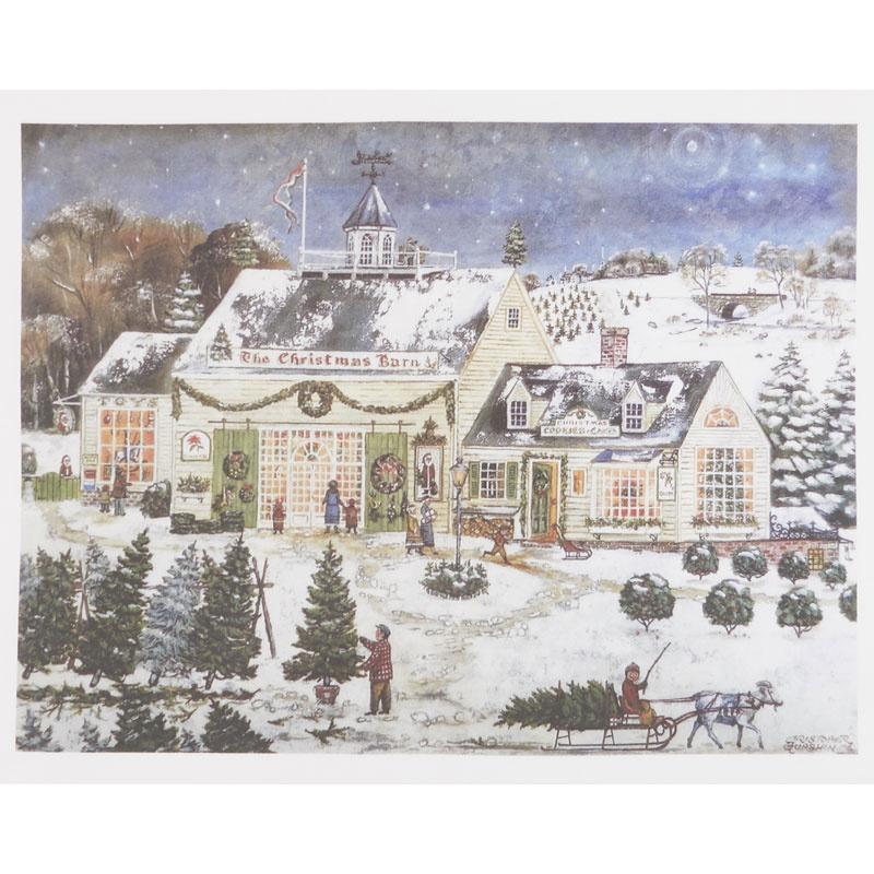 The Christmas Barn Digitally Printed Panel