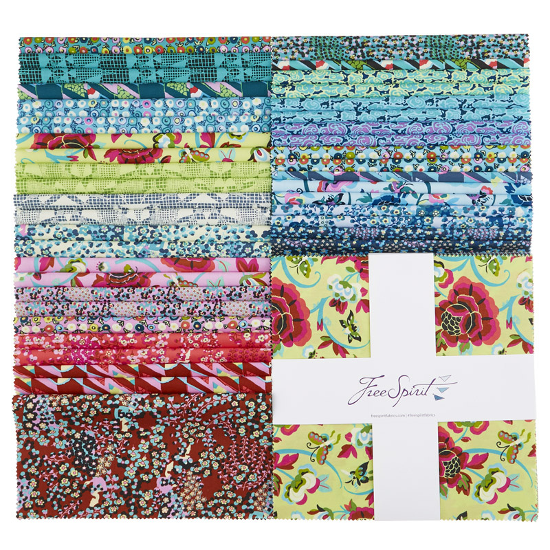 "Amy Butler Natural Beauty Precut 10/"" Fabric Squares Layer Cake Free Spirit"