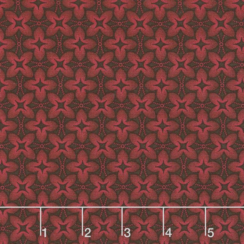 Baltimore House - Sewing Circle Red Yardage