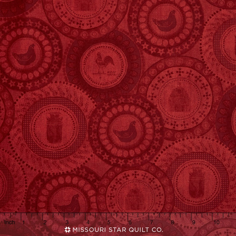 Farm to Table - Farm Patched Red Yardage