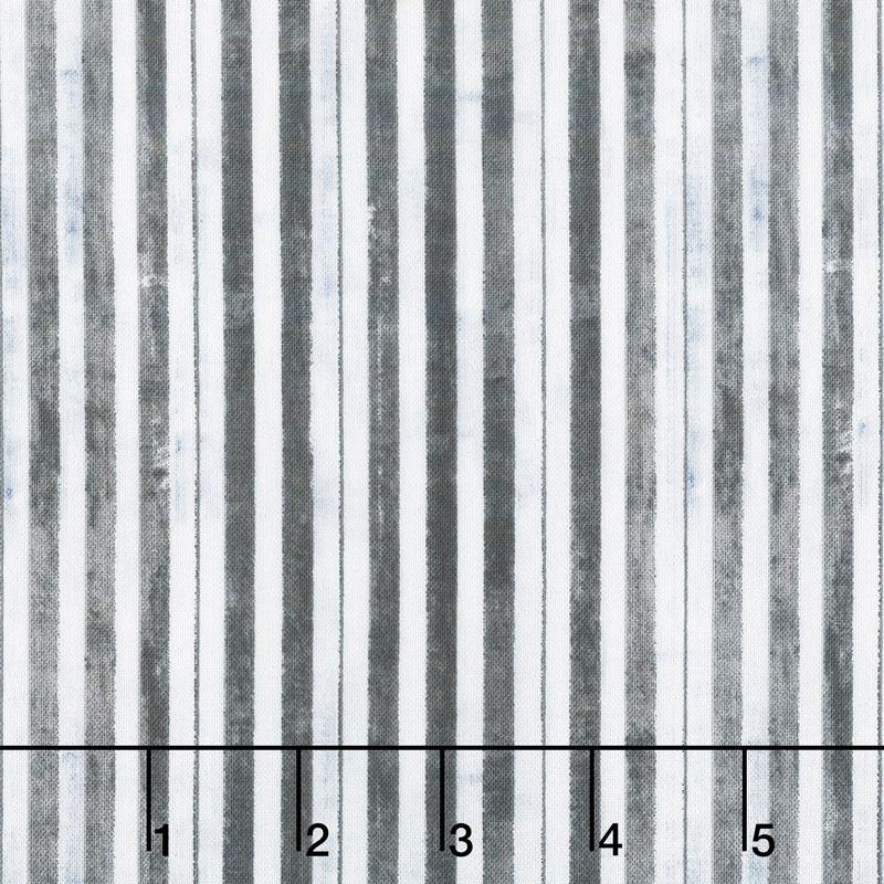Interlude - Piano Key Stripe Black Yardage