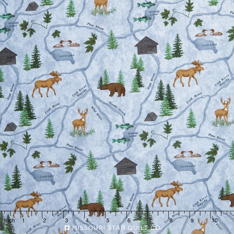 River Journey - Map Sky Blue Waters Yardage