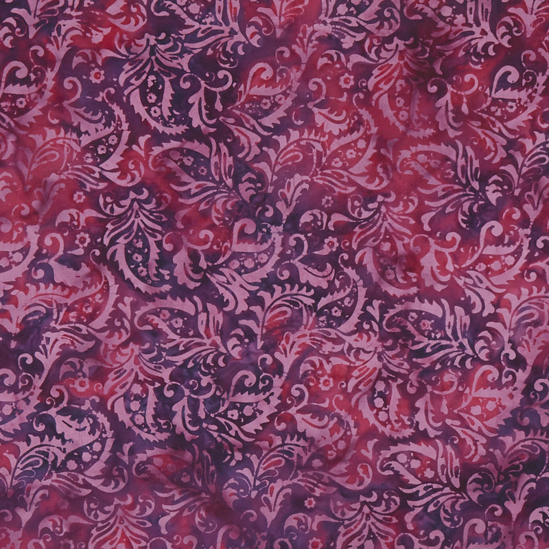 Gypsy Rose Batiks - Purple & Pink Paisley Yardage