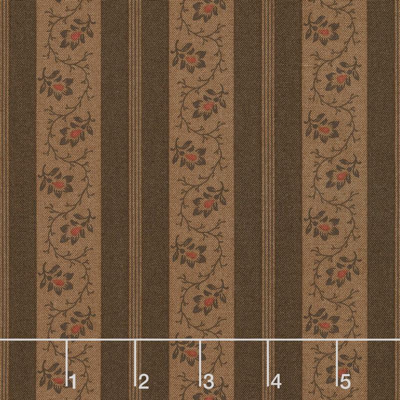 Spice It Up - Stripe Dark Brown Yardage