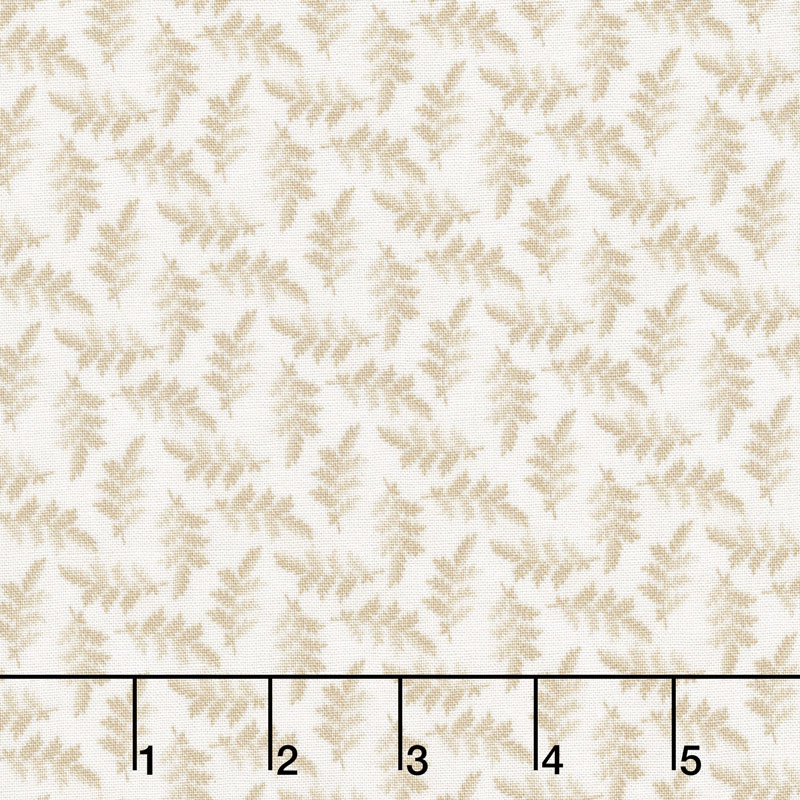 The Little Things - Variegated Leaves Natural Yardage