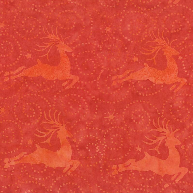 Alpine Jingle Batiks - Deer Cherry Yardage