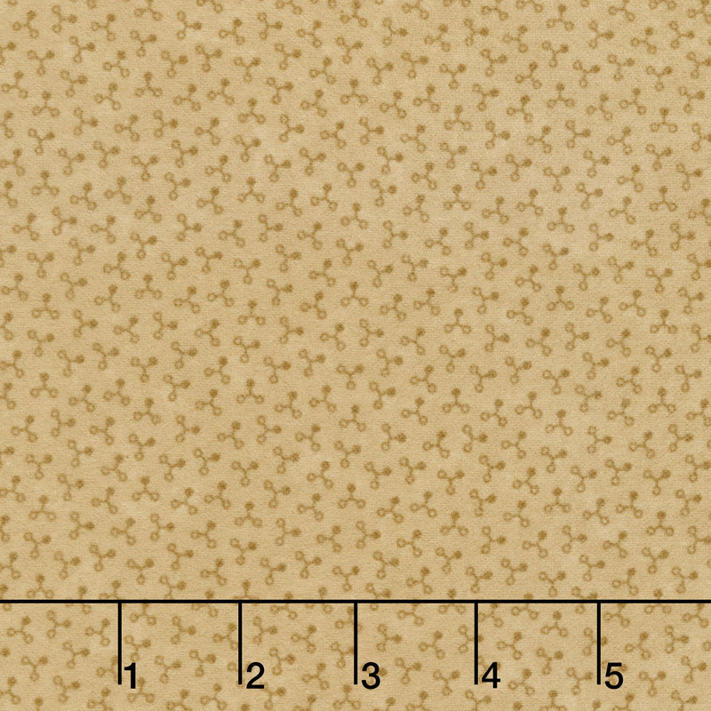 Country Road Seed Pods Tonal Tan Flannel Yardage