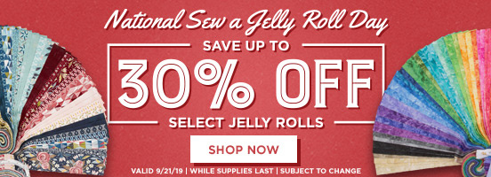 National Sew a Jelly Roll Day Sale