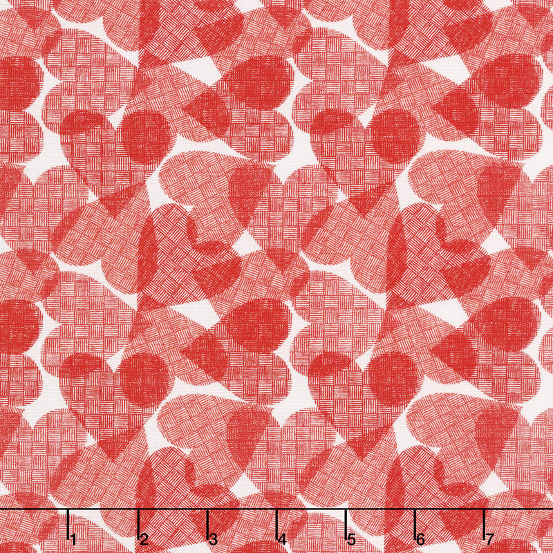 Red-iculously in Love - I Love You So Much White Yardage