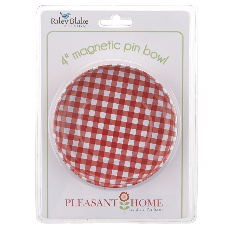 Magnetic Pin Bowl - Gingham Red