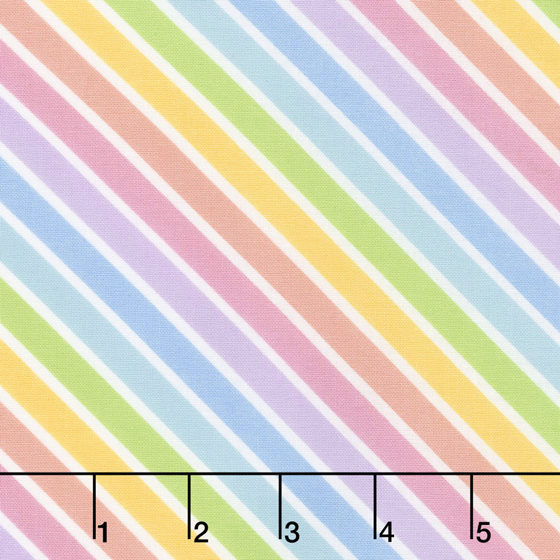 Sparkle Magic Shine - Diagonal Stripe Rainbow Yardage