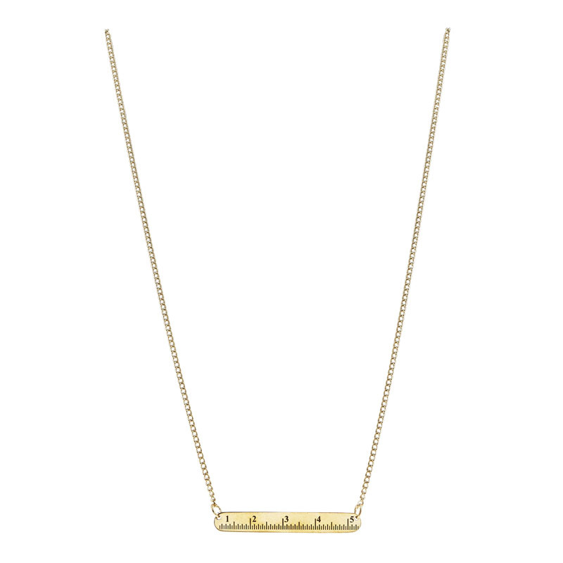 Measuring Tape Necklace - Brass
