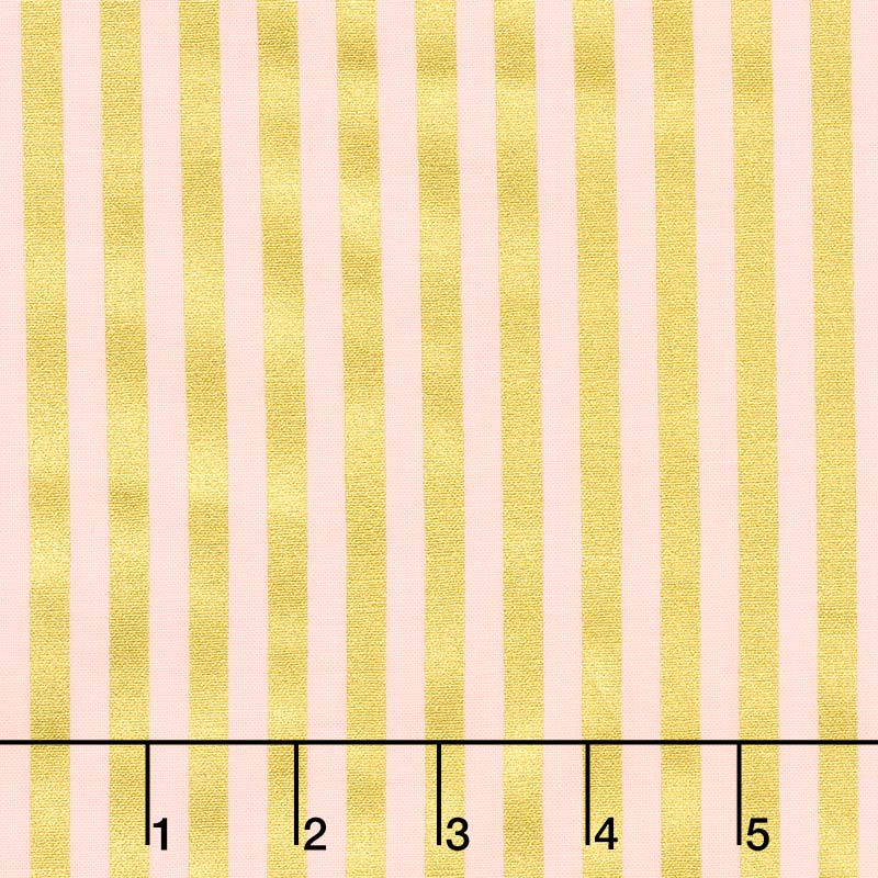 A Little Bit of Sparkle - Stripe Pink Metallic Yardage