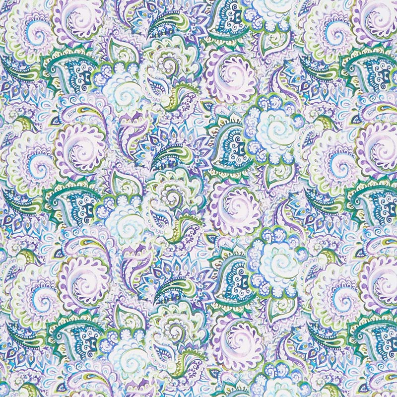 The Leah Collection Paisley Periwinkle Yardage In The Beginni