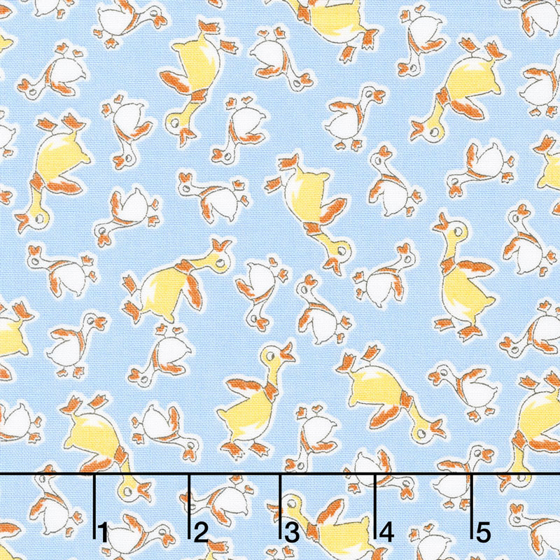 Everything But The Kitchen Sink 2017 - Duck Dance Sky Blue Yardage