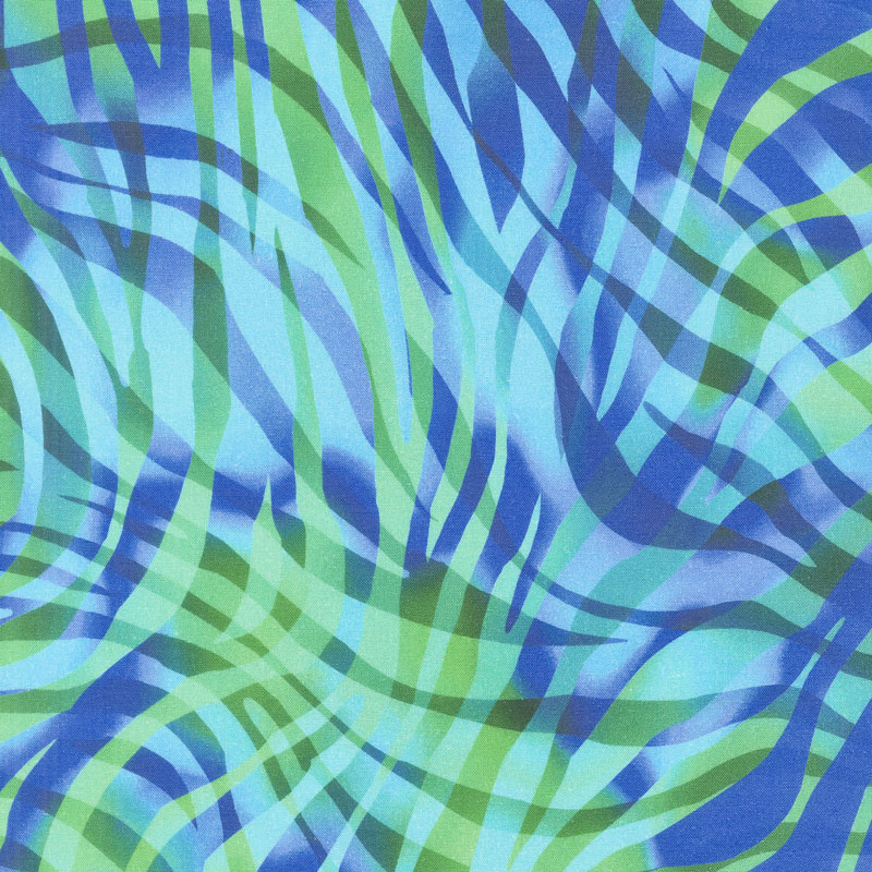 Zebra Skins - Cobalt Digitally Printed 108