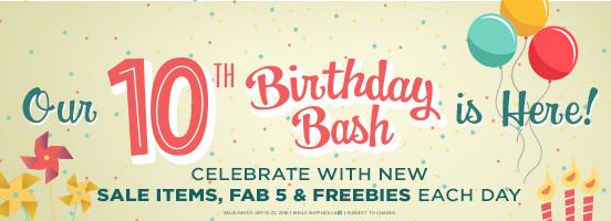Birthday Bash Sale