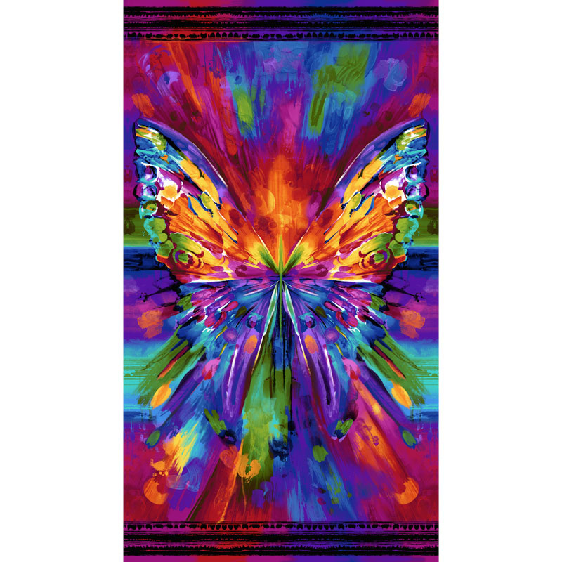 Awaken Abstract Butterfly Bright Digitally Printed Panel