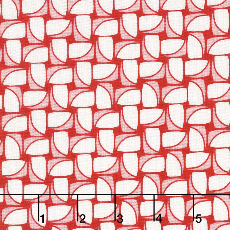 Hi - de - Ho! - Chunky Pinwheels Red Yardage