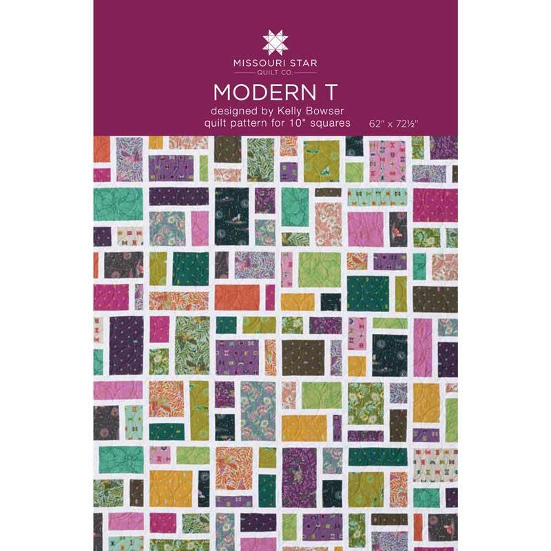 Modern T Quilt Pattern by Missouri Star