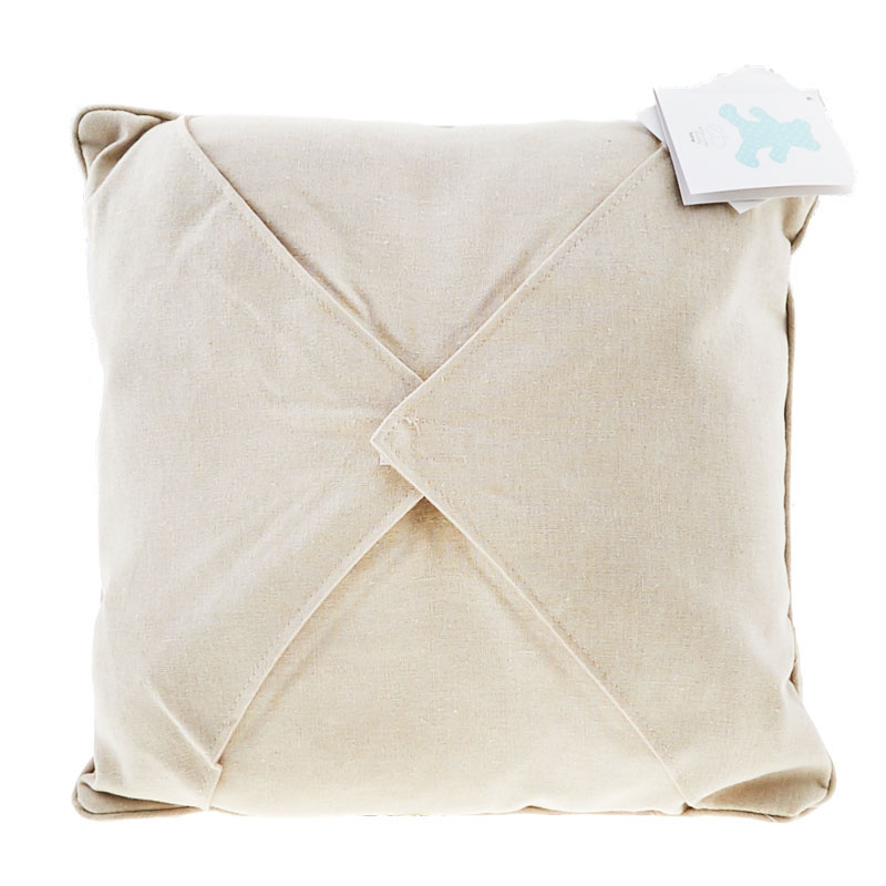 Easy as 1-2-3 Embroidery Pillow - Oatmeal