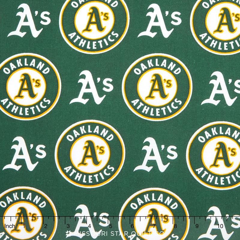 MLB Major League Baseball - Oakland A's Allover Yardage