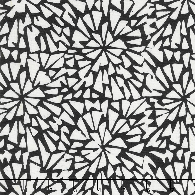 Salt N Pepper Batiks - Mosaic Burst Salt N Pepper Yardage