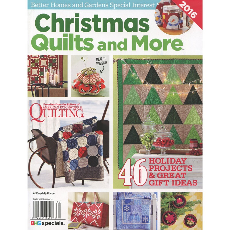 Better Homes And Gardens Christmas Quilts And More 2016