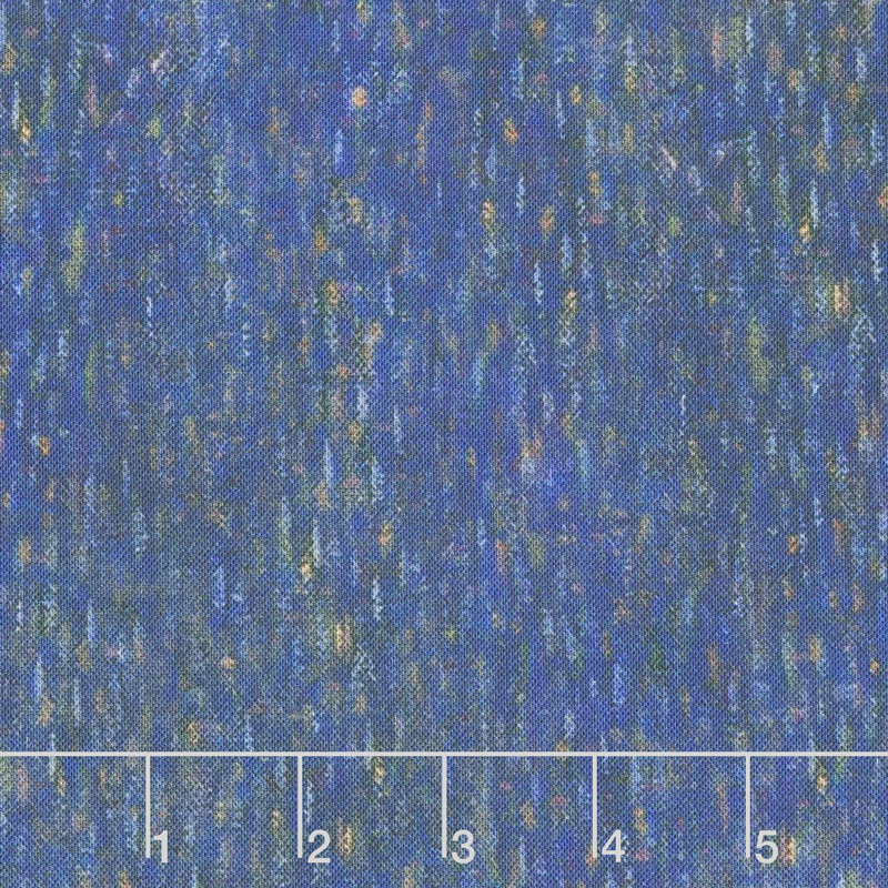 Seurat - Artist Series Texture Indigo Digitally Printed Yardage
