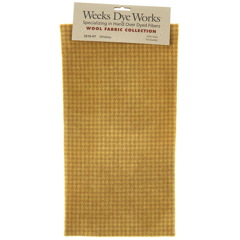 Weeks Dye Works Hand Over Dyed Wool Fat Quarter - Houndstooth Whiskey
