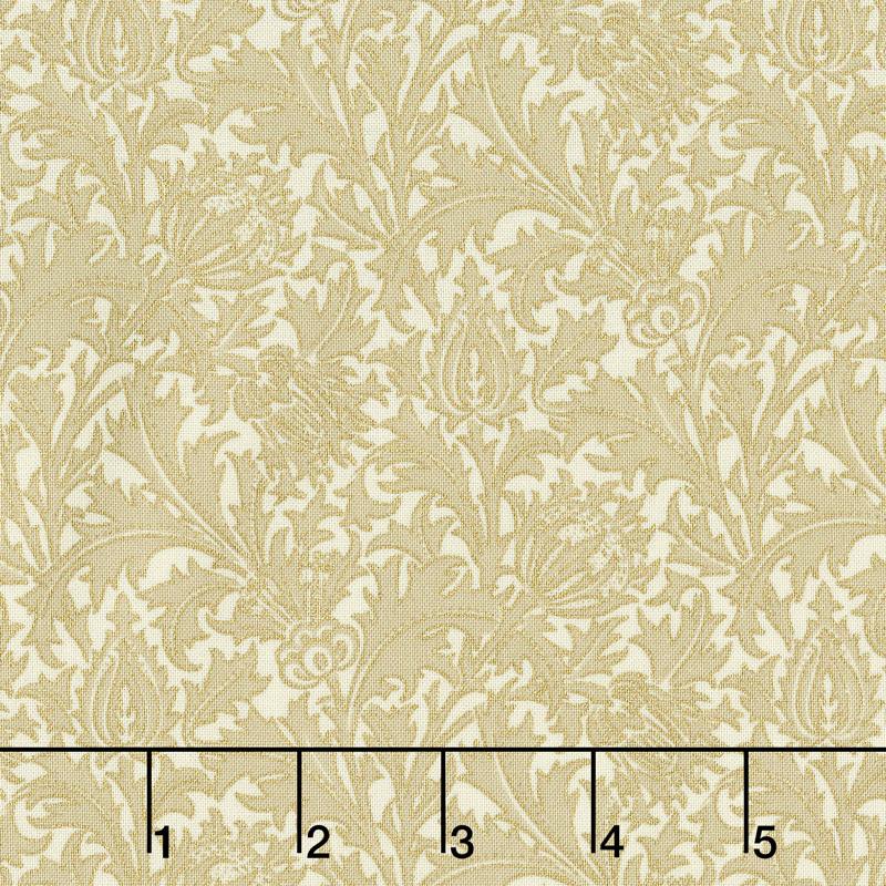 Morris Holiday 1897 - Thistle Linen Metallic Yardage