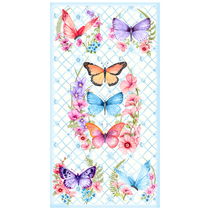 Papillon Parade - Butterfly White Panel