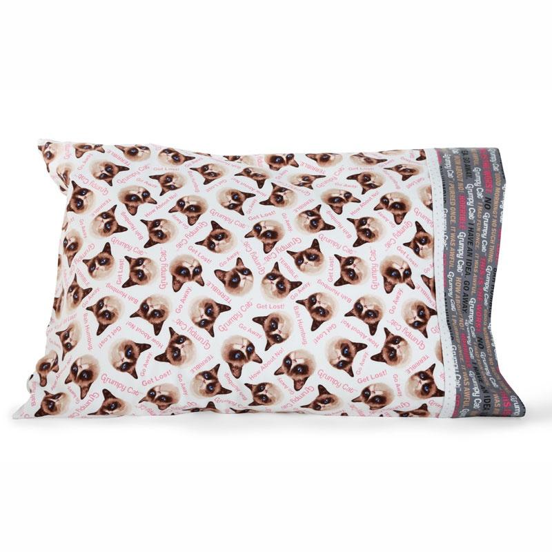 MSQC Grumpy Catâ?¢ Easy Tube Pillowcase Kit - Pink Flannel - MSQC ... : missouri quilt company pillowcase tutorial - Adamdwight.com