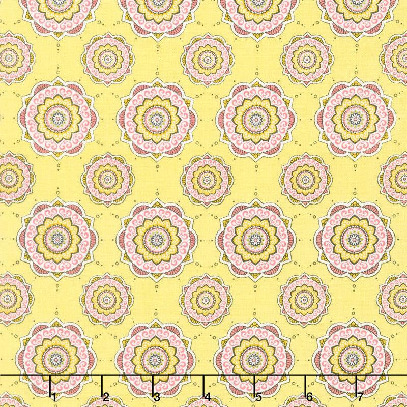 Petal Lane - Petal Posh Yellow Yardage