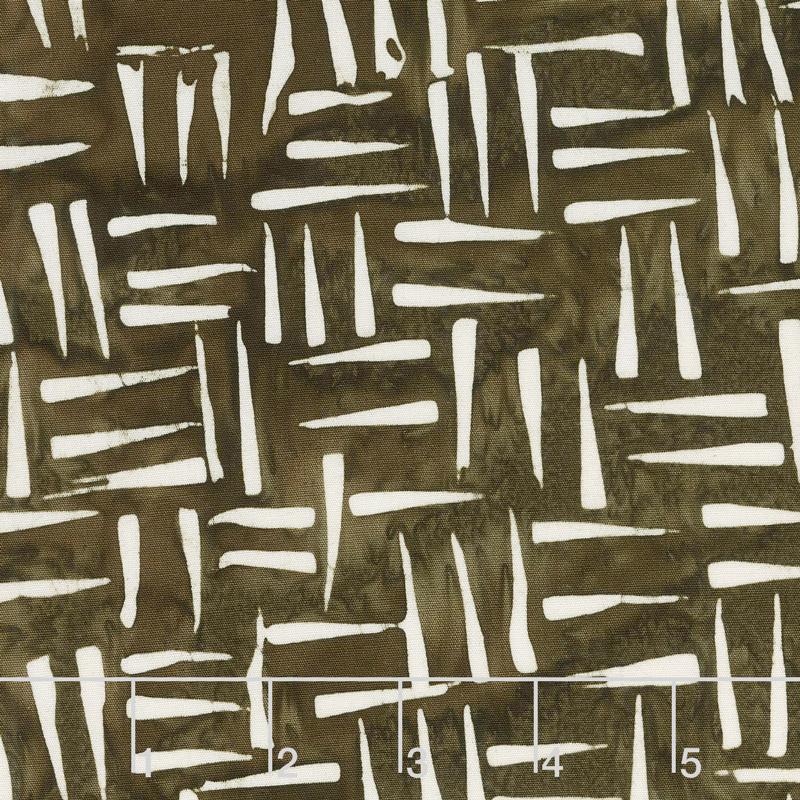 Chocolate and Creams Batiks - Sharp Points Wood Yardage
