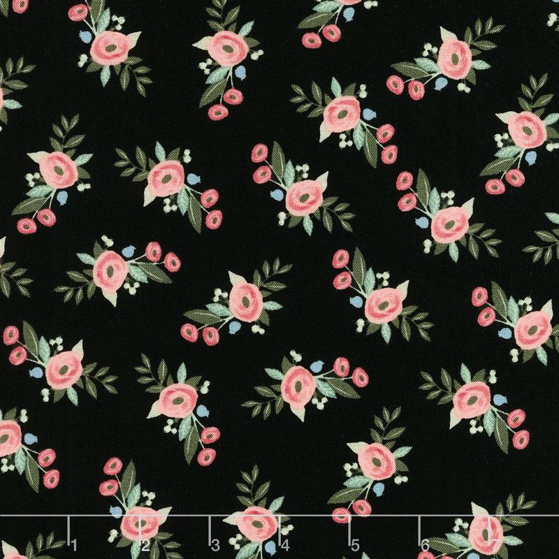 Bliss - Floral Black Yardage