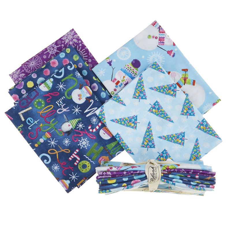 By Golly Get Jolly! 5 Easy Pieces Fat Quarter Bundle
