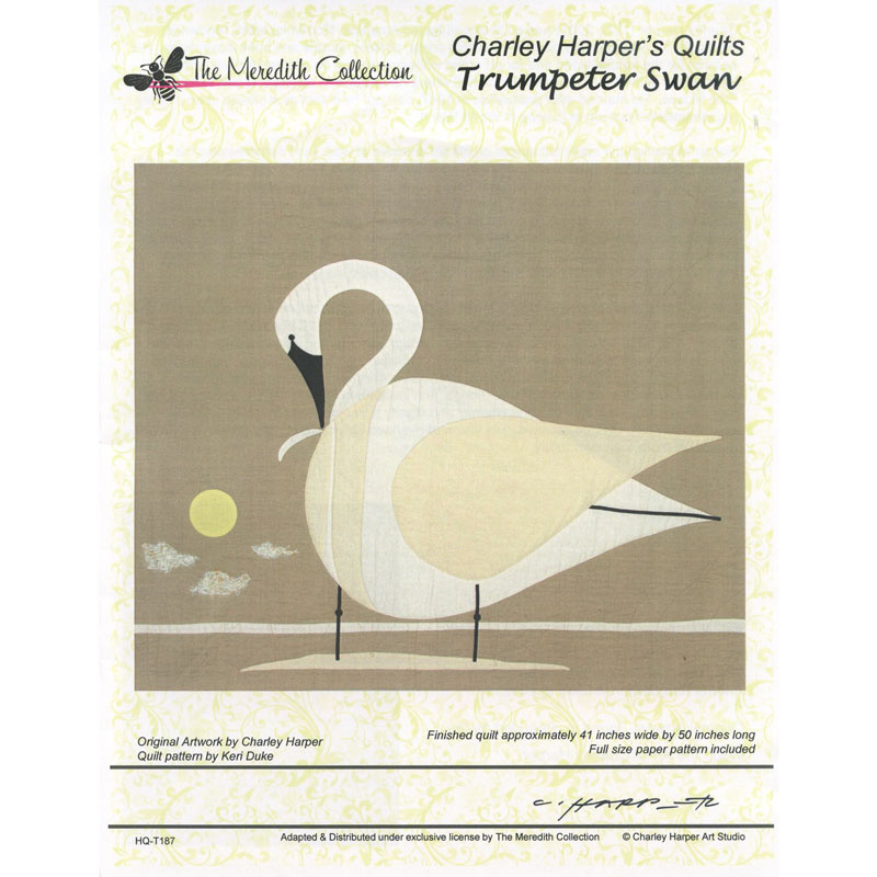 Trumpeter Swan Pattern Charley Harper The Meredith