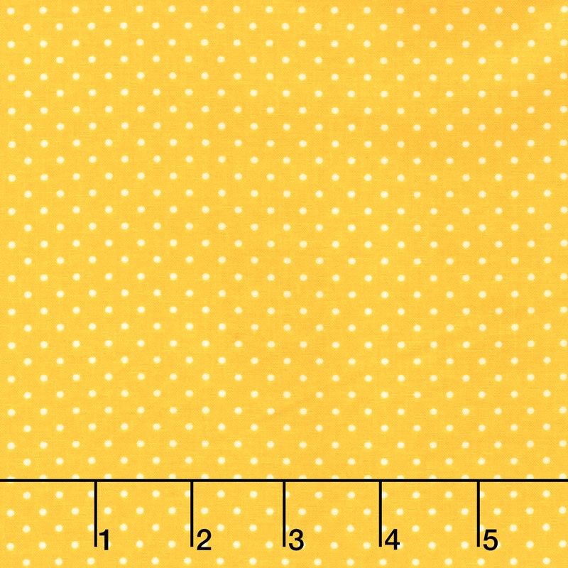 Swiss Dot - White Swiss Dot on Yellow Yardage
