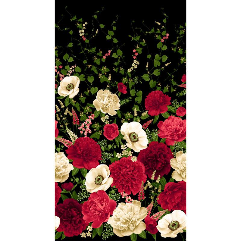Carina - Peony and Anemone Black Panel