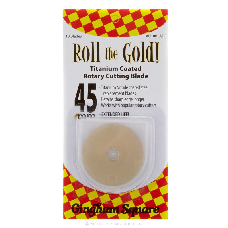 45mm Roll The Gold Titanium Rotary Blade (10 pack)