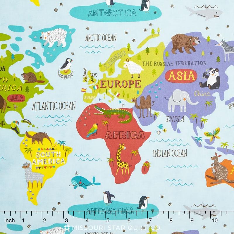 Hello World - World Map Sky Yardage