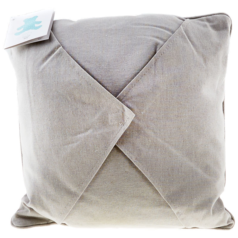 Easy as 1-2-3 Embroidery Pillow - Grey