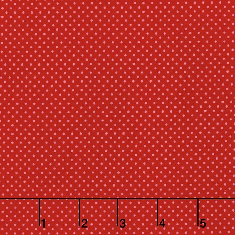 Happy Day - Happy Dot Red Yardage