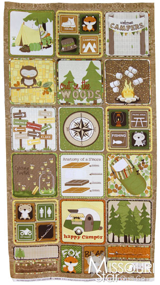 Camp-A-Lot - Brown Flannel Panel